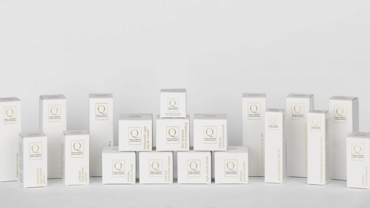 New cosmetics line Quellenhof Luxury Resort Passeier