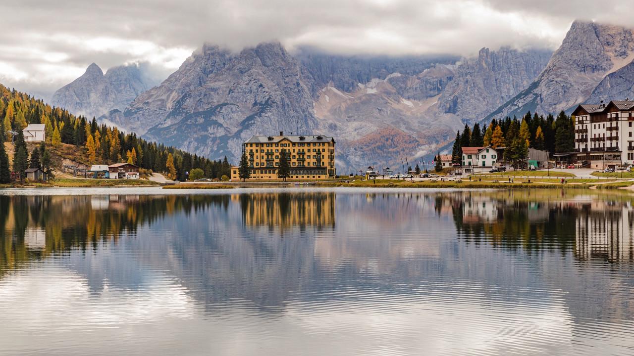 Misurina Lake in Cortina and surroundings