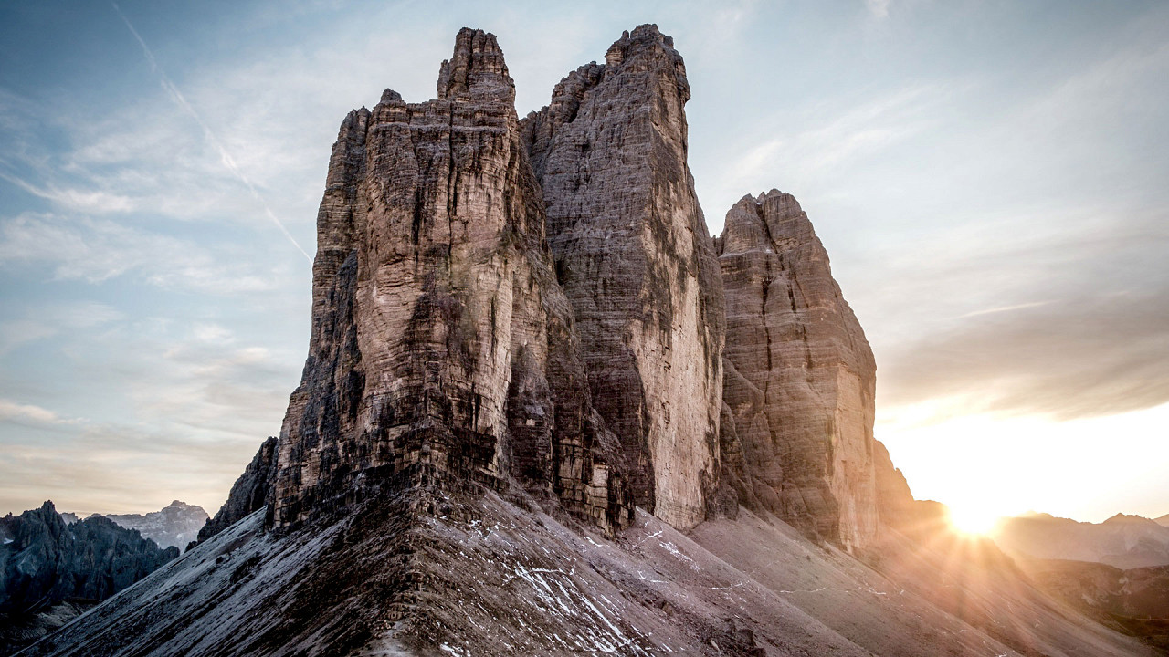Sunrise on the Tre Cime di Lavaredo