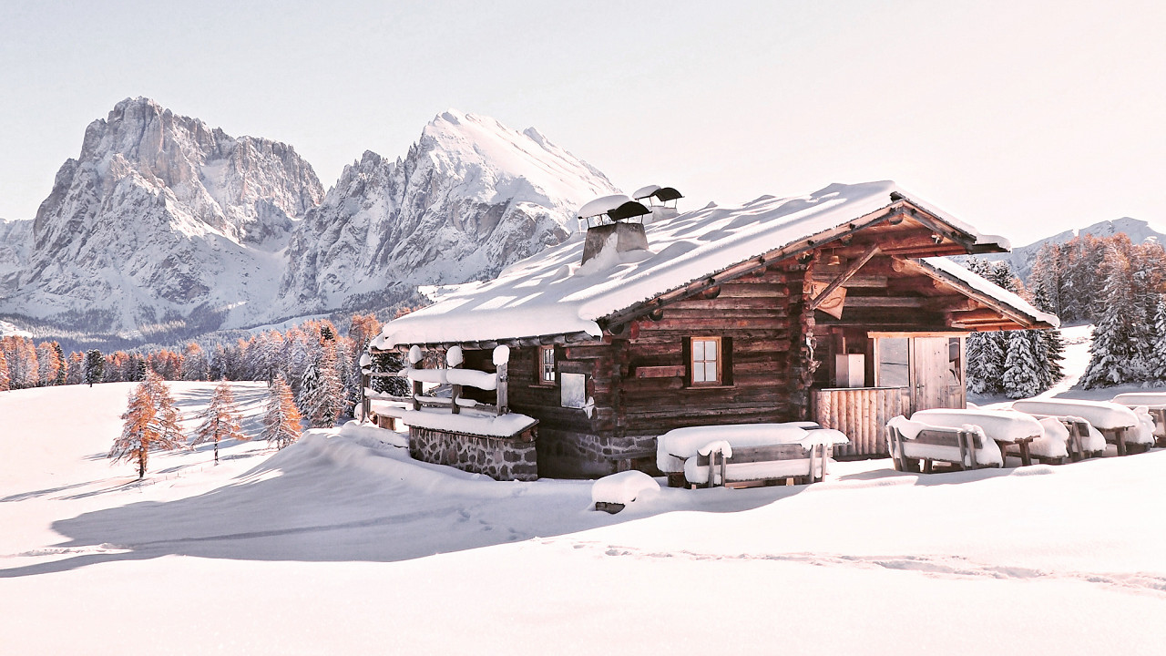Альпе ди Сиуси зимой