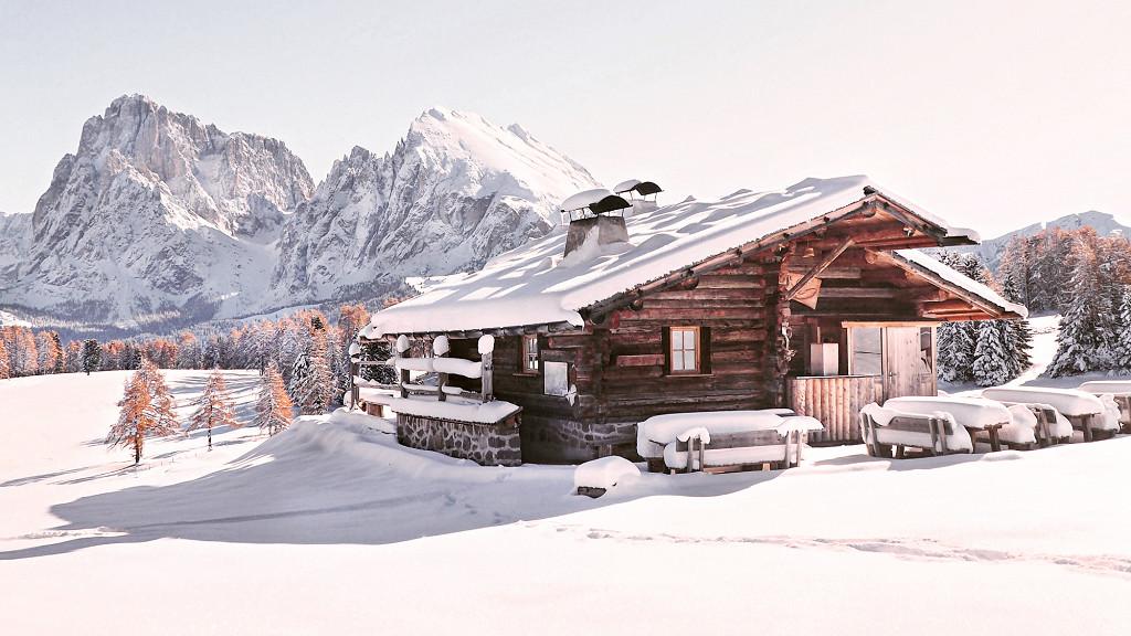 Alpe di Siusi en hiver