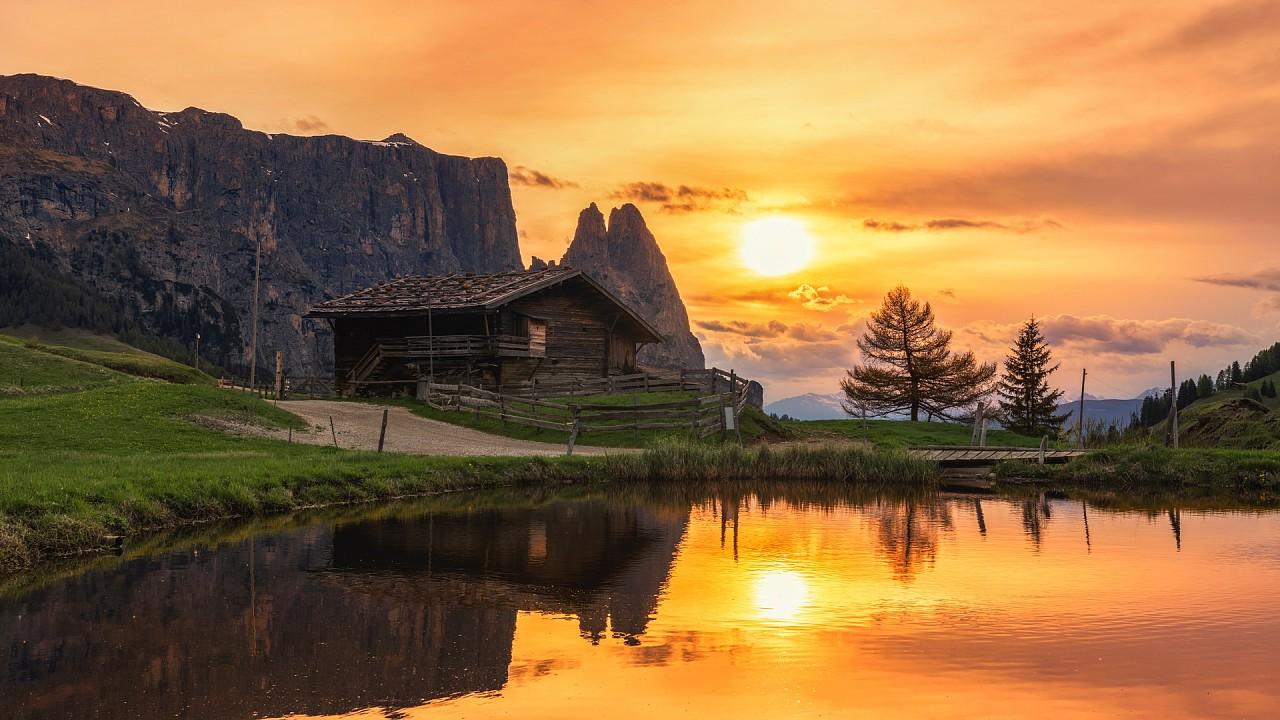 Sunset Alpe di Siusi
