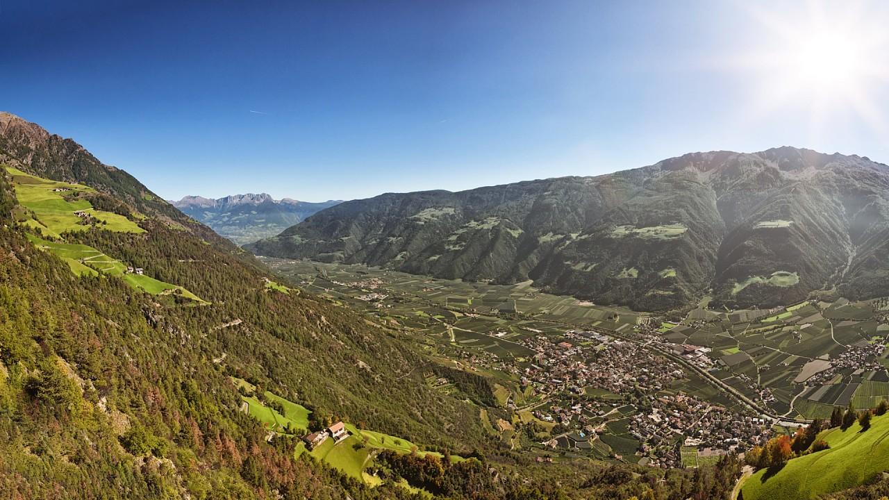Vue panoramique de Naturno