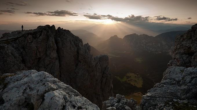 Sunrise on the Val d'Ega