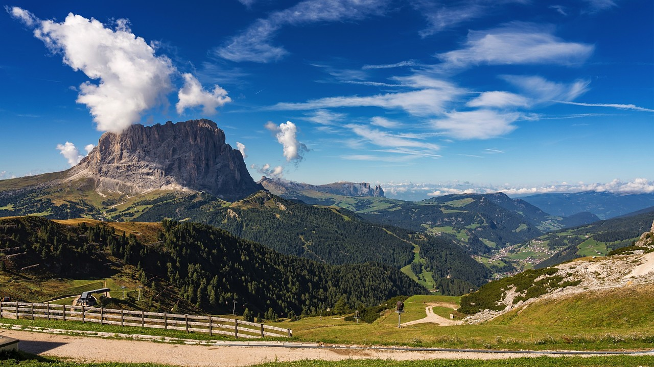 Mountains around Santa Cristina Val Gardena