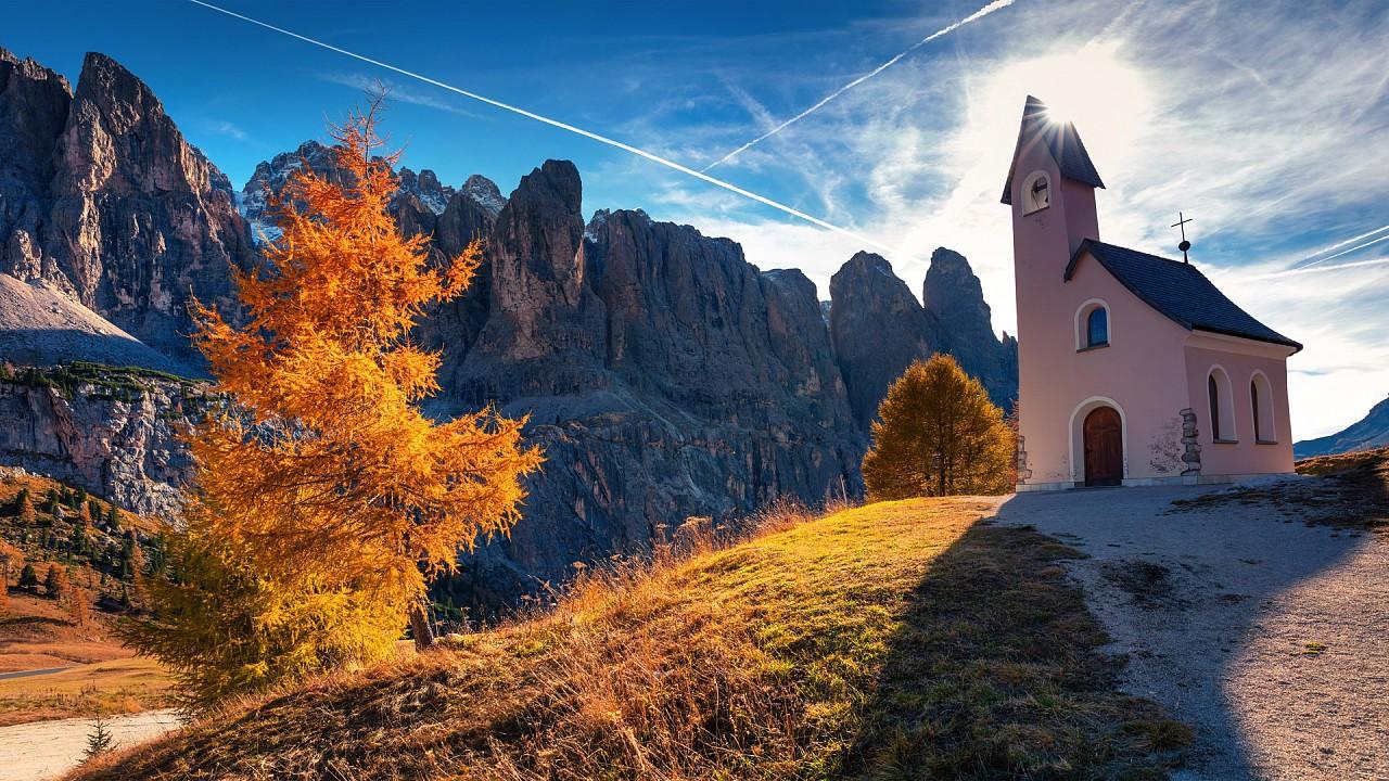 Church near Canazei