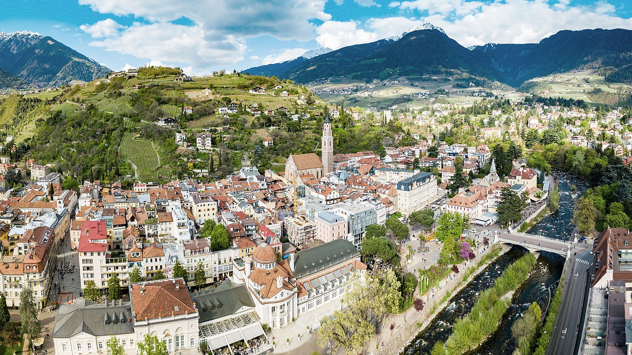 Panoramic view of Merano