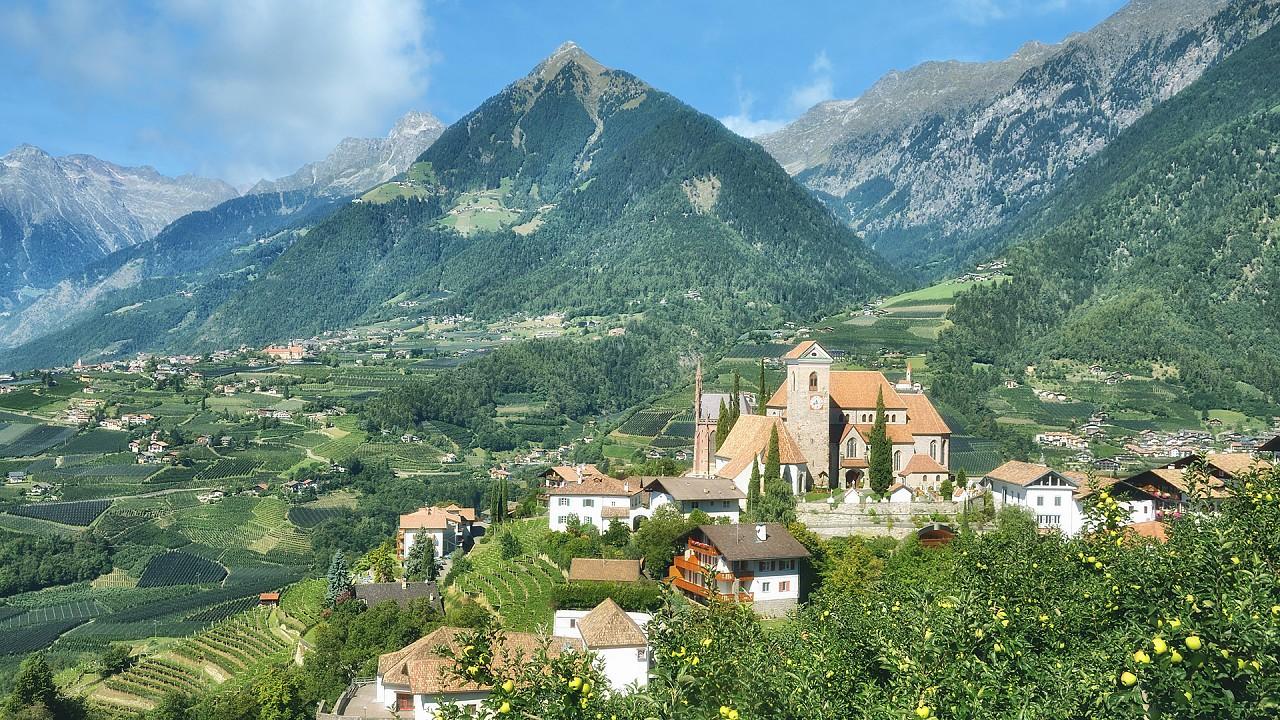 Town of Scena, near Merano