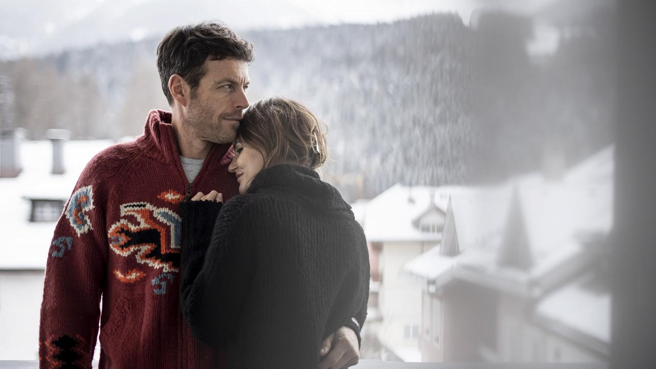 Paar im Winter Post Hotel Innichen