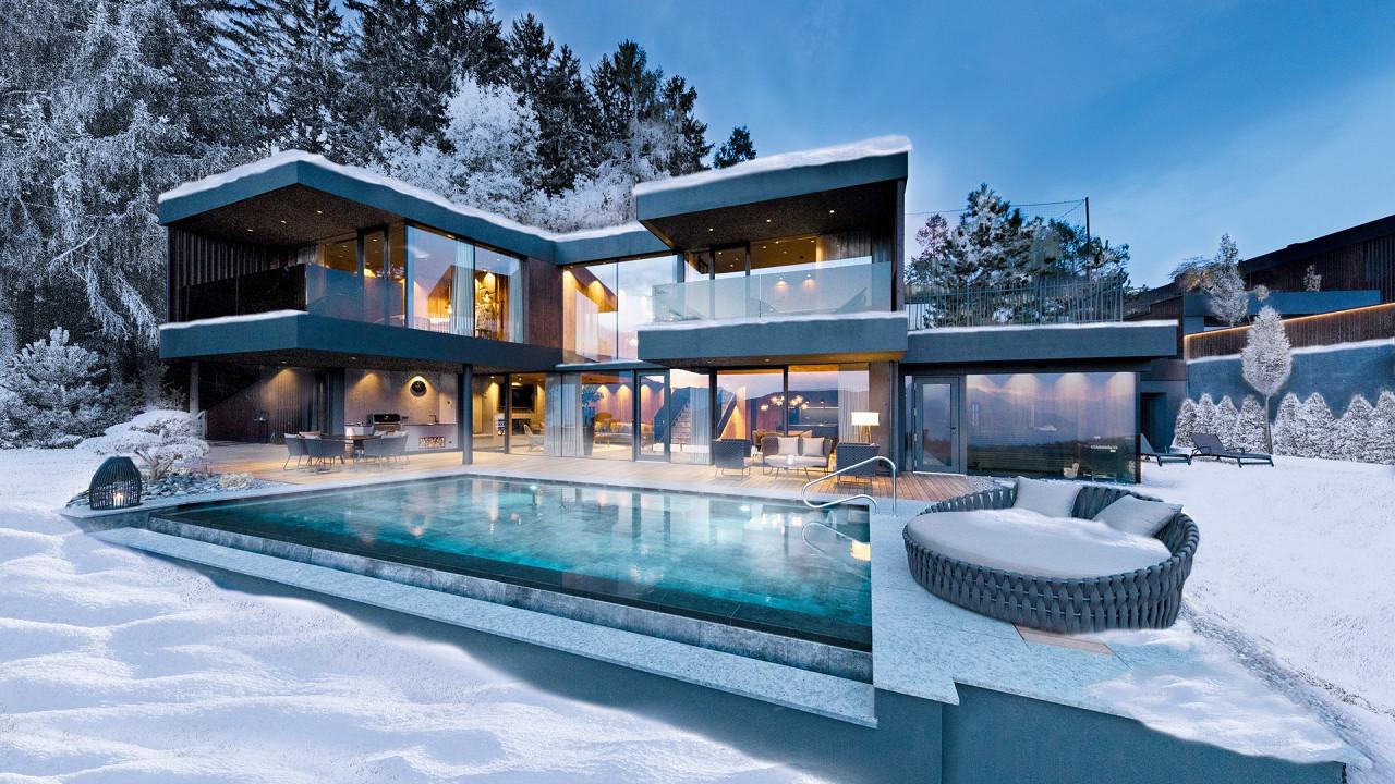 Winter exterior Bergvillen by Chalet Mirabell Avelengo