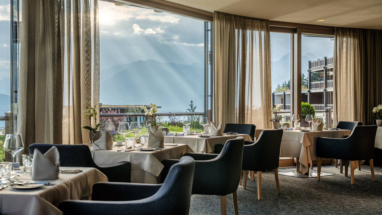 Speisesaal Hotel Chalet Mirabell Hafling