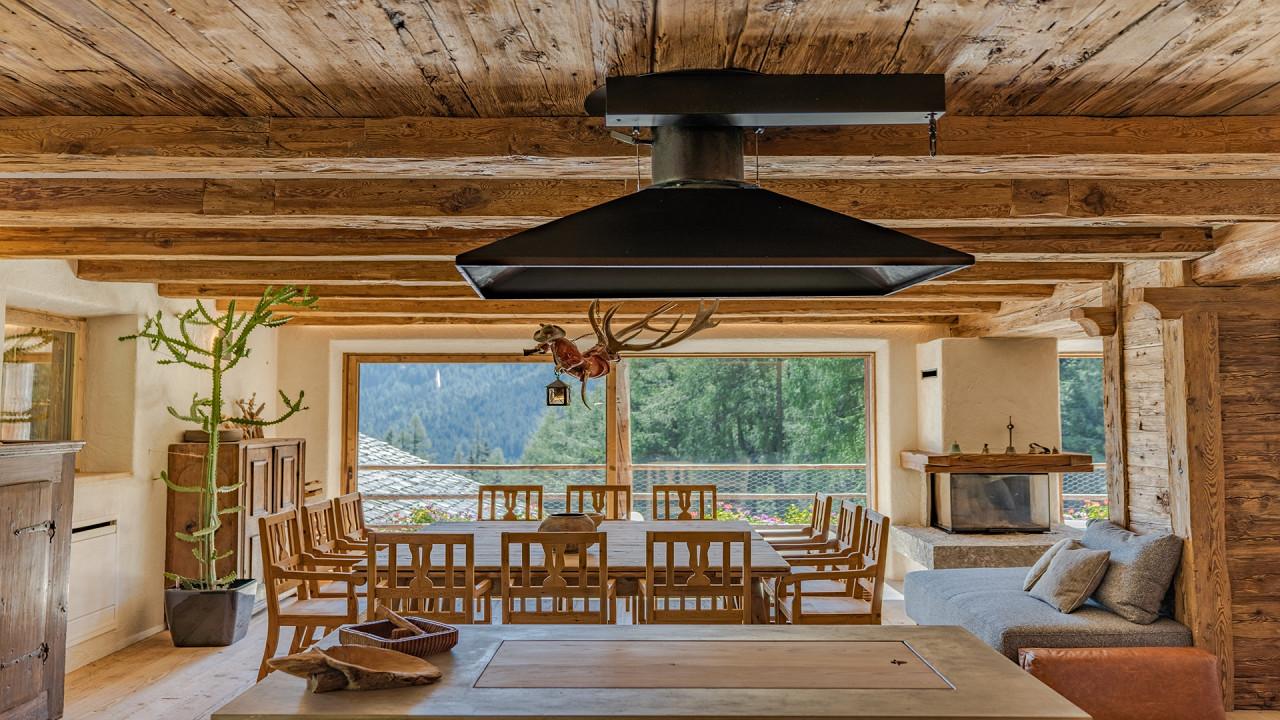 Dining room Cesa del Louf Arabba
