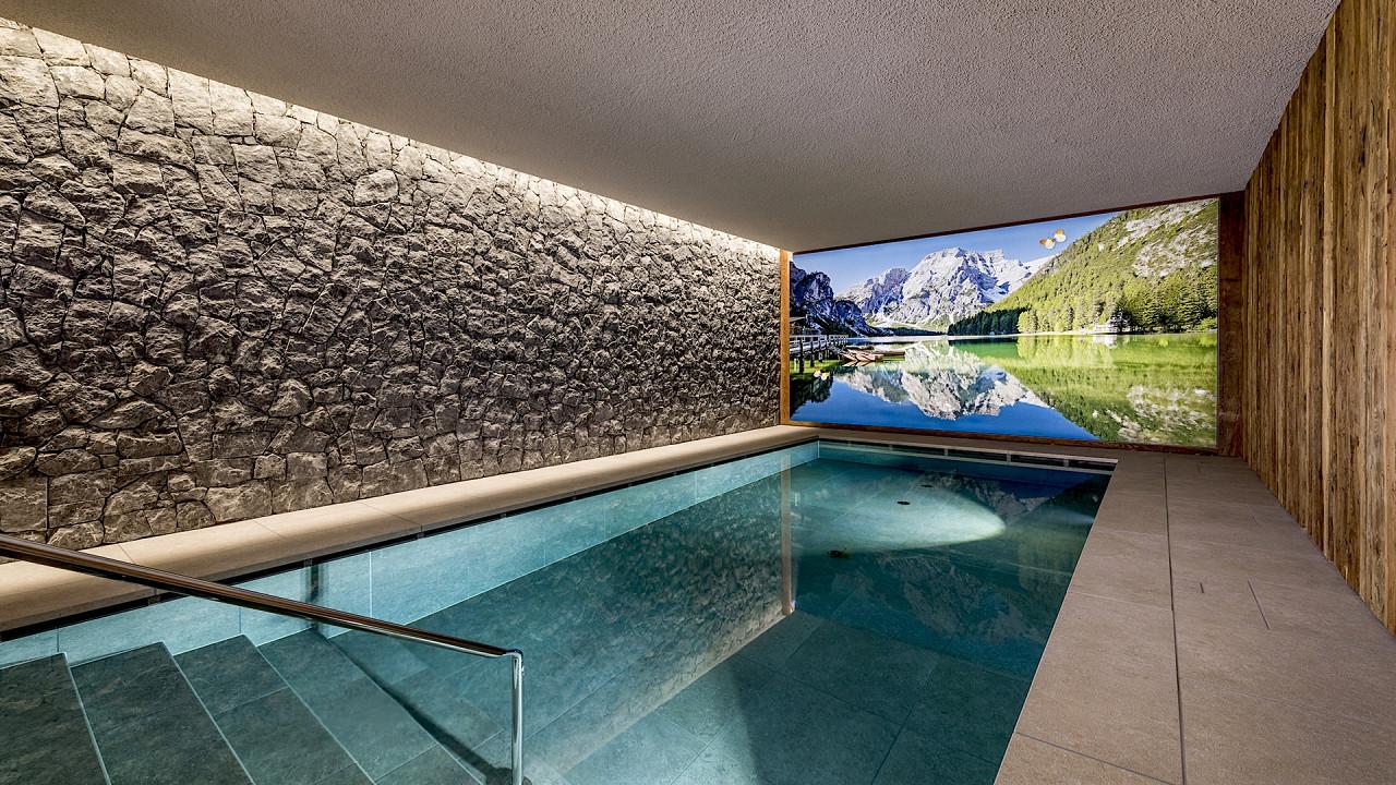 Indoor pool Mirabell Dolomites Hotel Valdaora