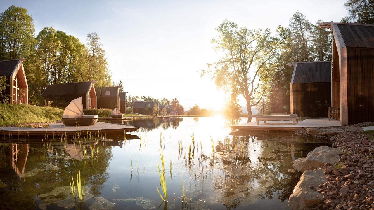 Lakeside chalet summer ADLER Lodge RITTEN