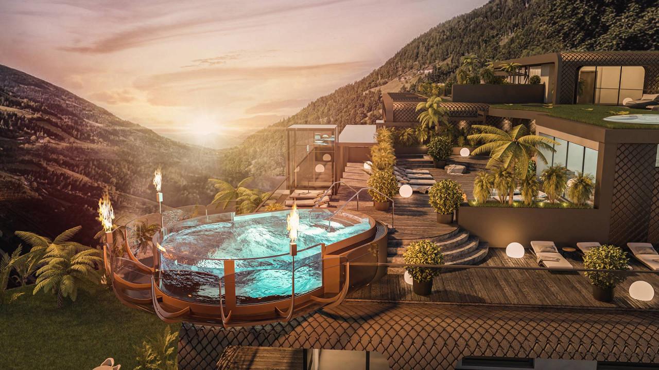 Nouvelle piscine Quellenhof Luxury Resort Passeier