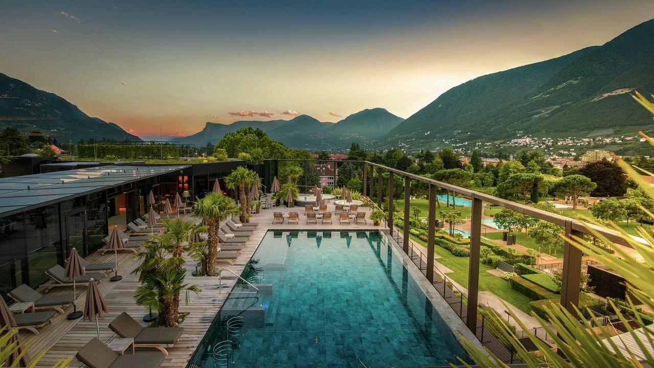Infinity pool Hotel Terme Merano