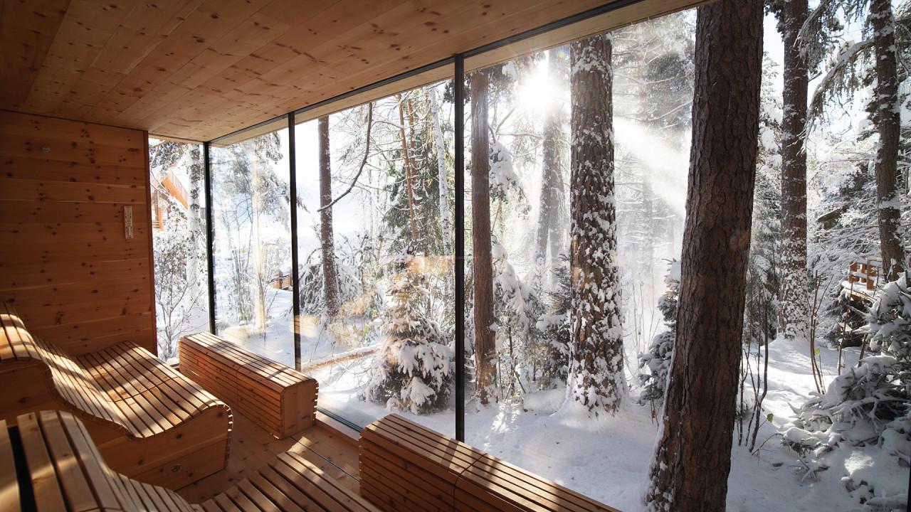 Sauna with view Adler Lodge Ritten Renon