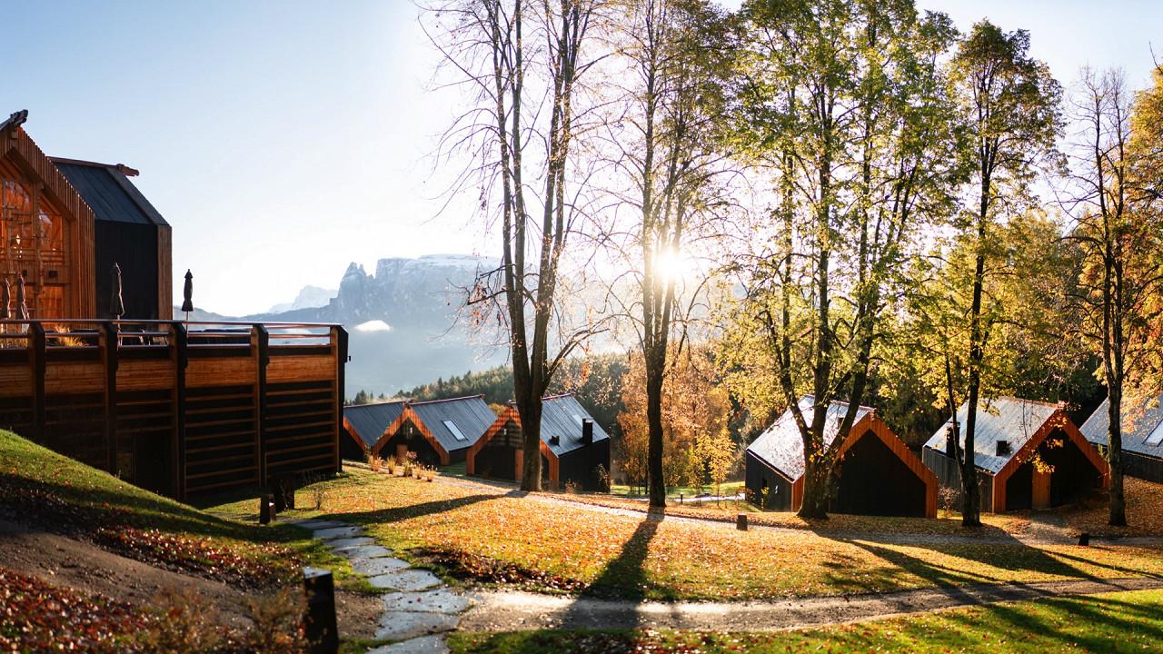 Autumn sunrise Adler Lodge Ritten Renon