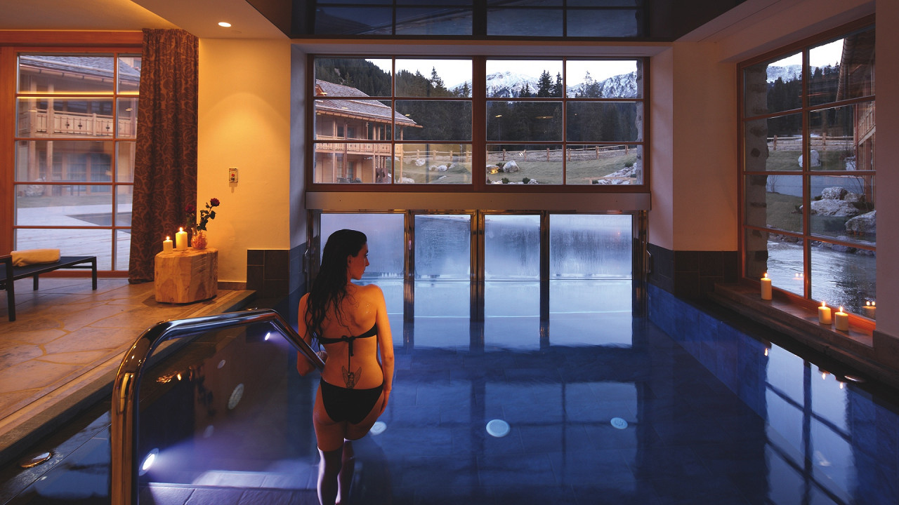 Indoor pool Tirler Hotel Alpe di Siusi