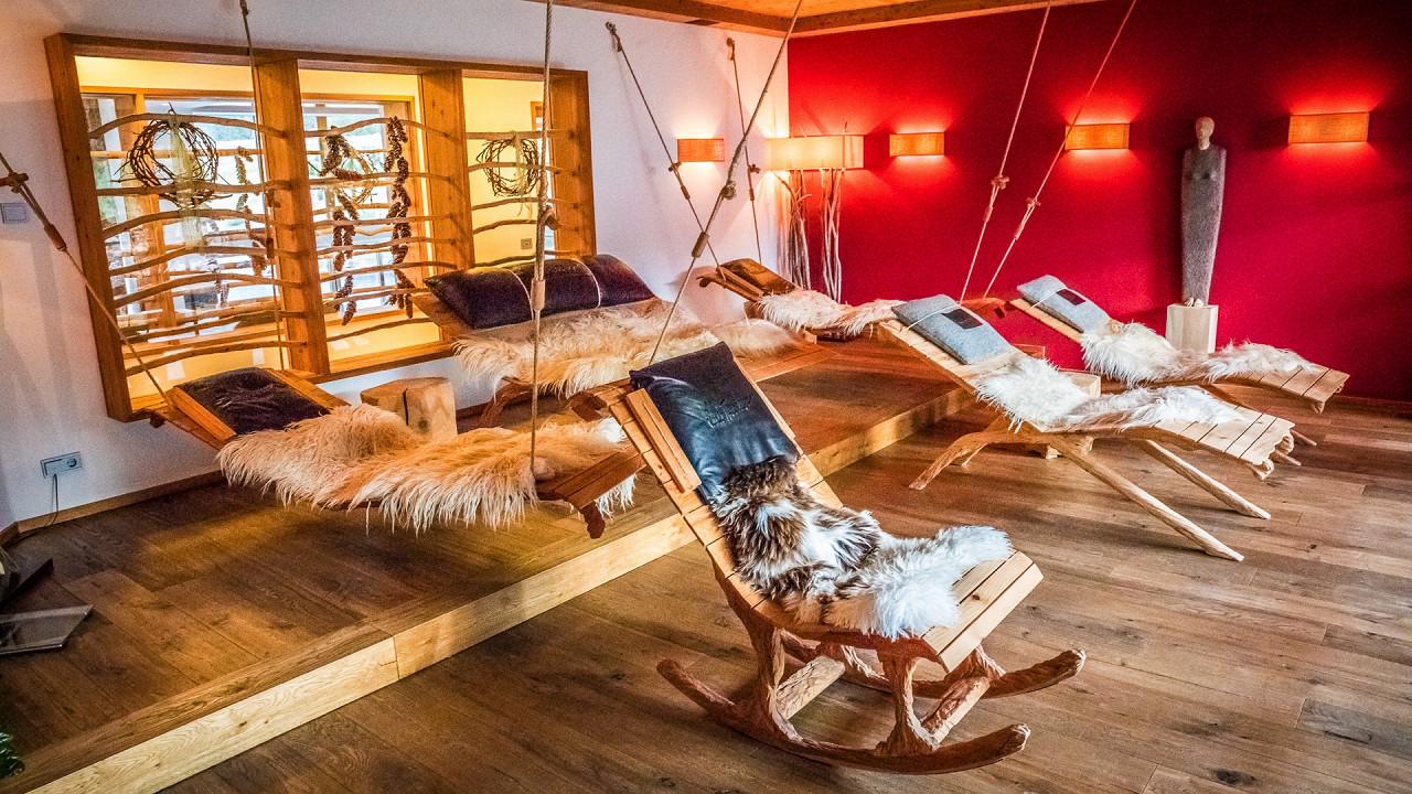 Spa relaxation area Tirler Hotel Alpe di Siusi