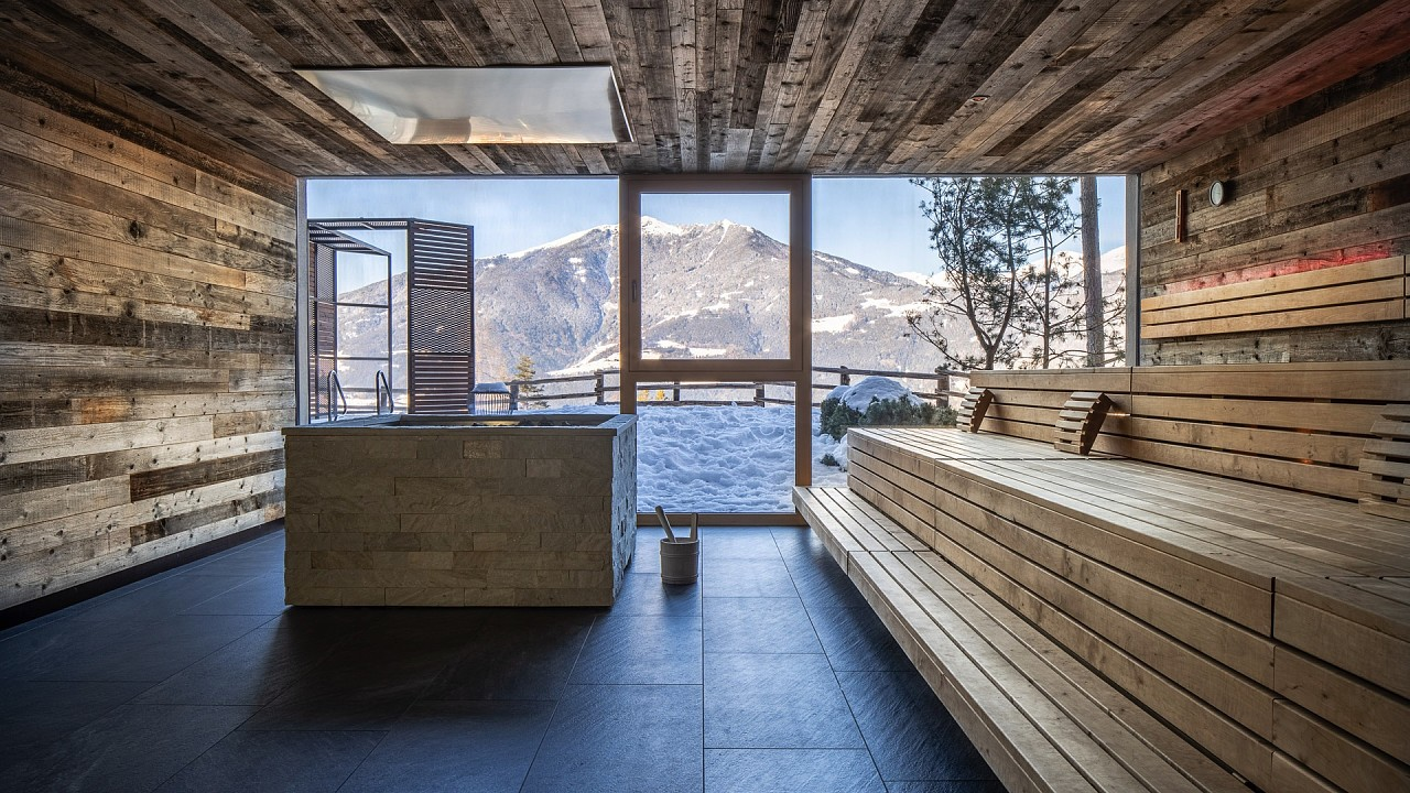 Sauna panoramique My Arbor Hôtel Bressanone