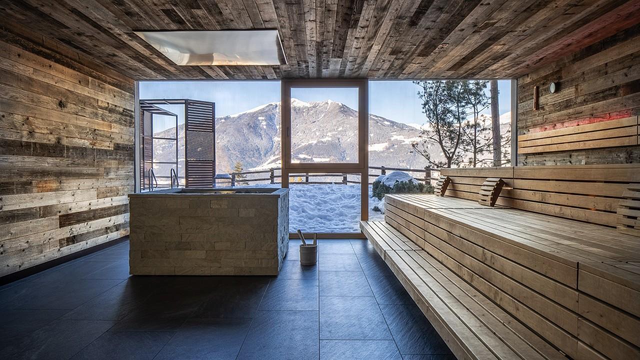 Pnaoramic sauna My Arbor Hotel Bressanone
