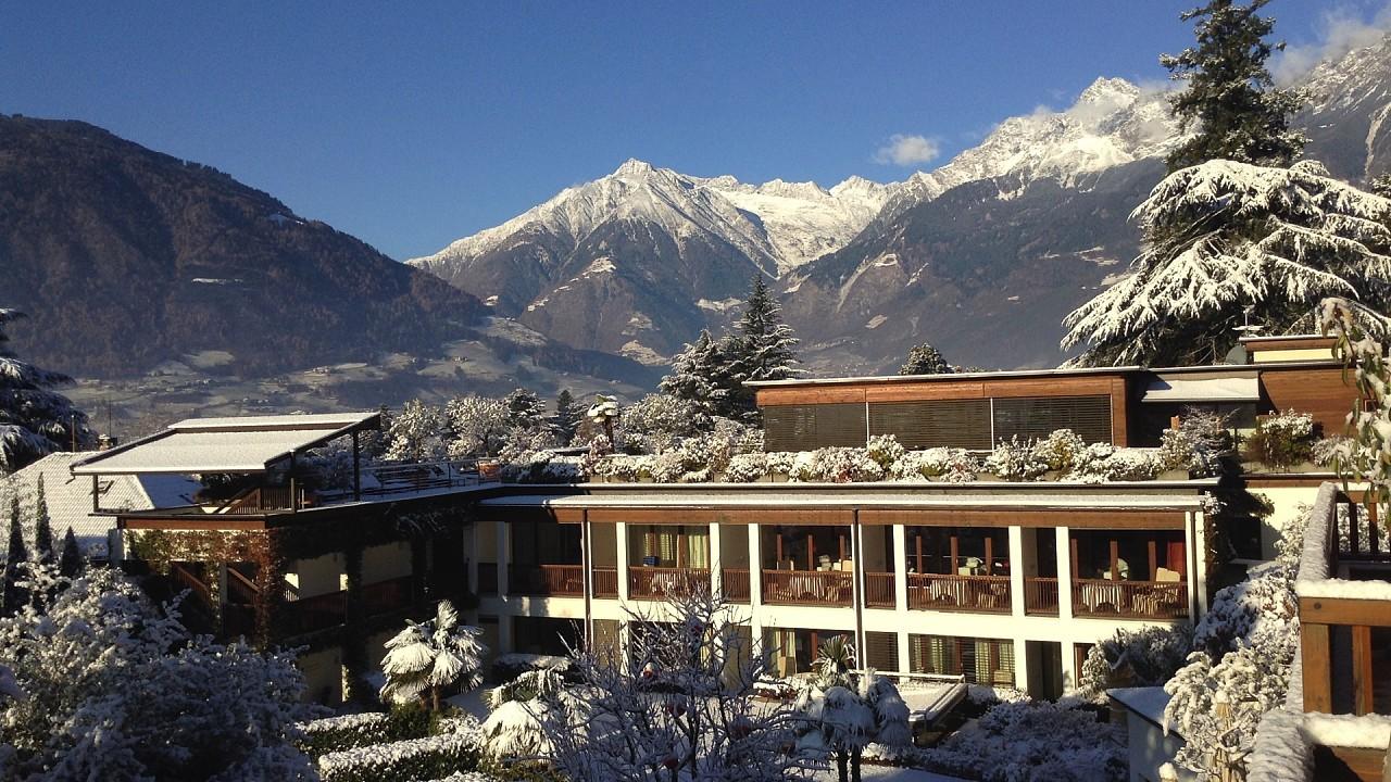 Winter outside Hotel Plantitscherhof Merano