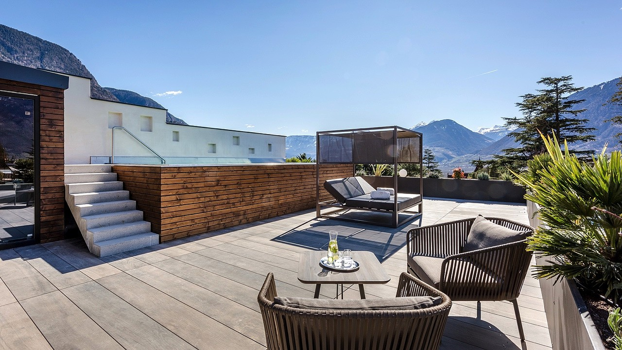 Penthouse suite with pool and sauna Plantitscherhof Hotel Merano