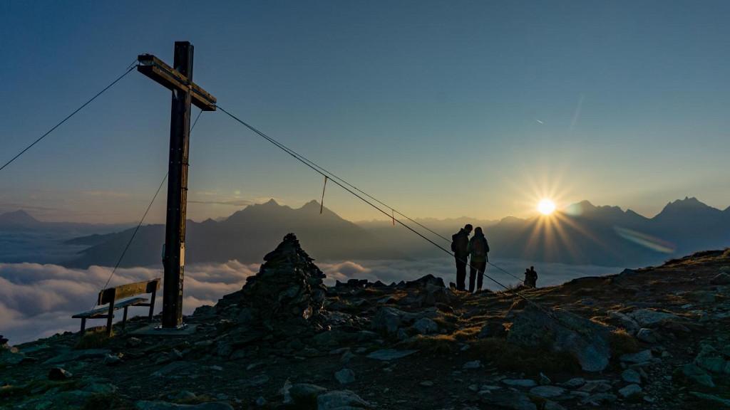 """Sunrise on the """"Speikboden"""""""