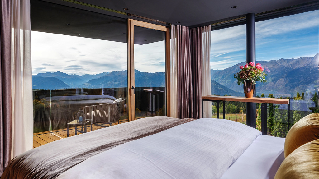 Room with mountain view Bergvillen Avelengo romantic