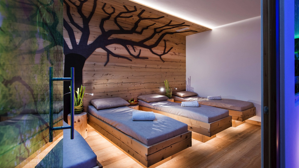 Relaxation room Abinea Hotel Castelrotto wellness