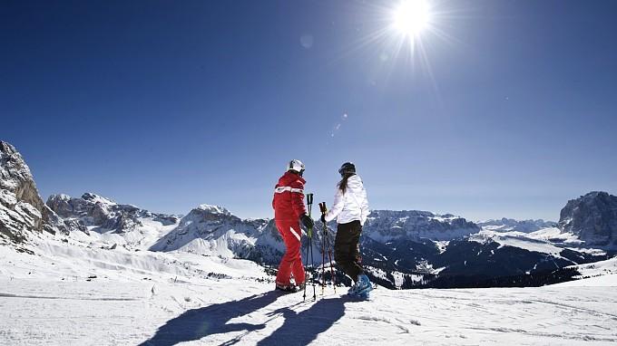 Sciatori Adler Lodge Alpe di Siusi hotel sulle piste