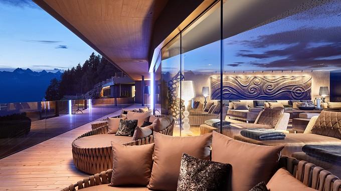 панорамная терраса Отель Шале Мирабель авеленго дизайн