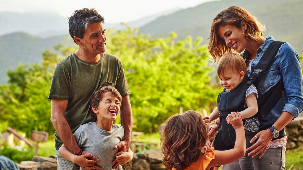 Famille heureuse Tirler Hotel Alpe di Siusi famille